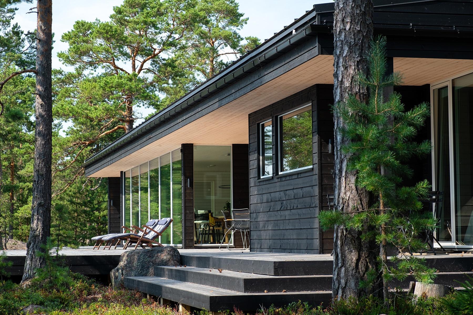 Arkkitehdin suunnittelema vapaa-ajan asunto Porvoossa-1