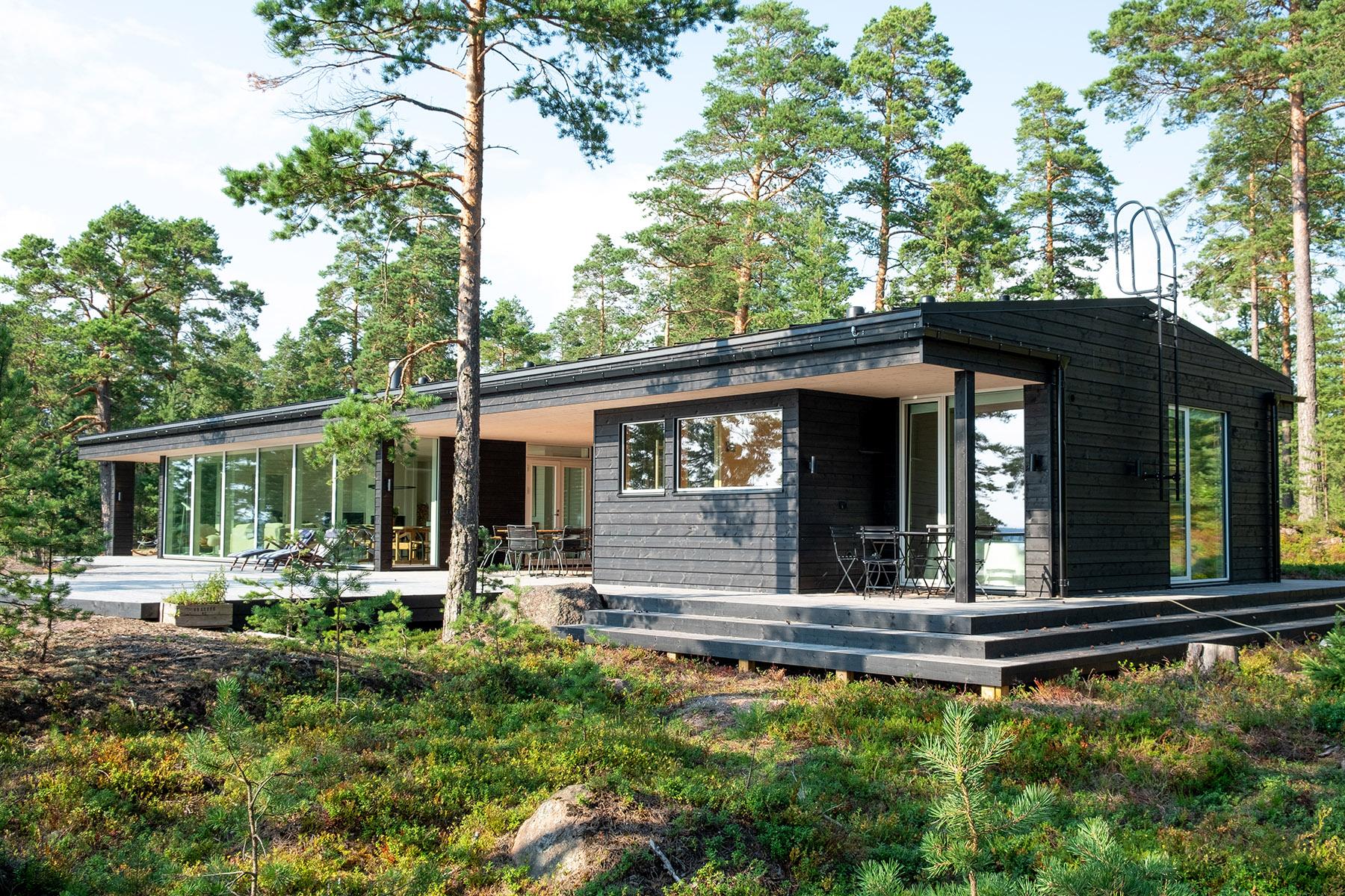 Arkkitehdin suunnittelema vapaa-ajan asunto Porvoossa-3