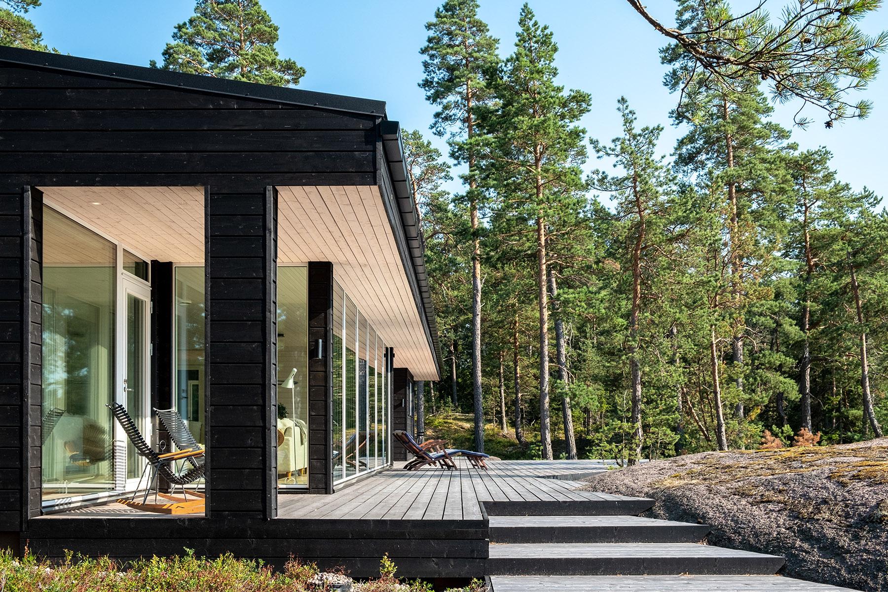 Arkkitehdin suunnittelema vapaa-ajan asunto Porvoossa-4