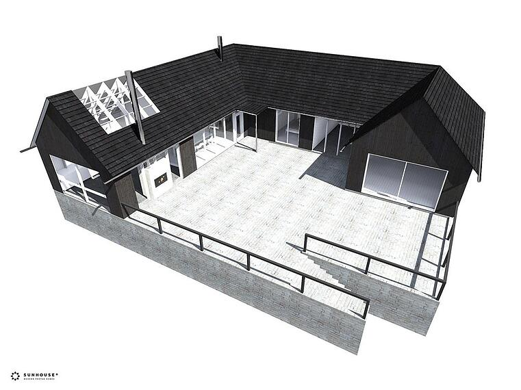 Arkkitehdin suunnittelema huvila S1228