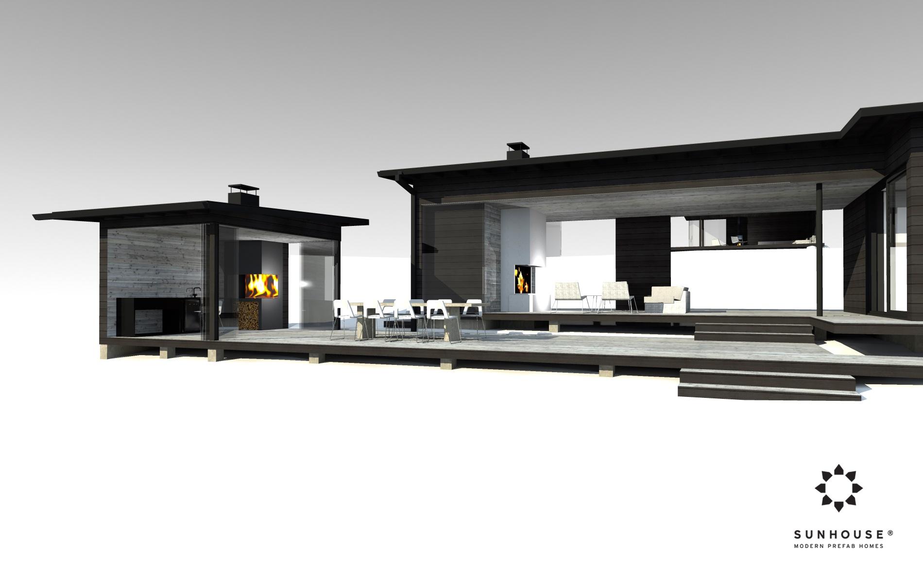 Sunhouse S1412 - Moderni vapaa-ajan asunto-1