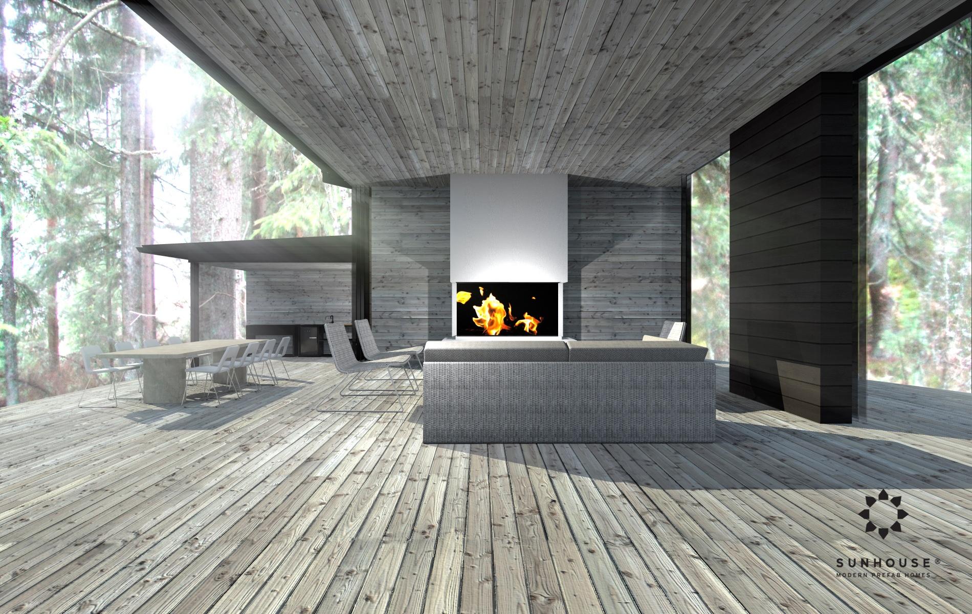 Sunhouse S1412 - Moderni vapaa-ajan asunto-15