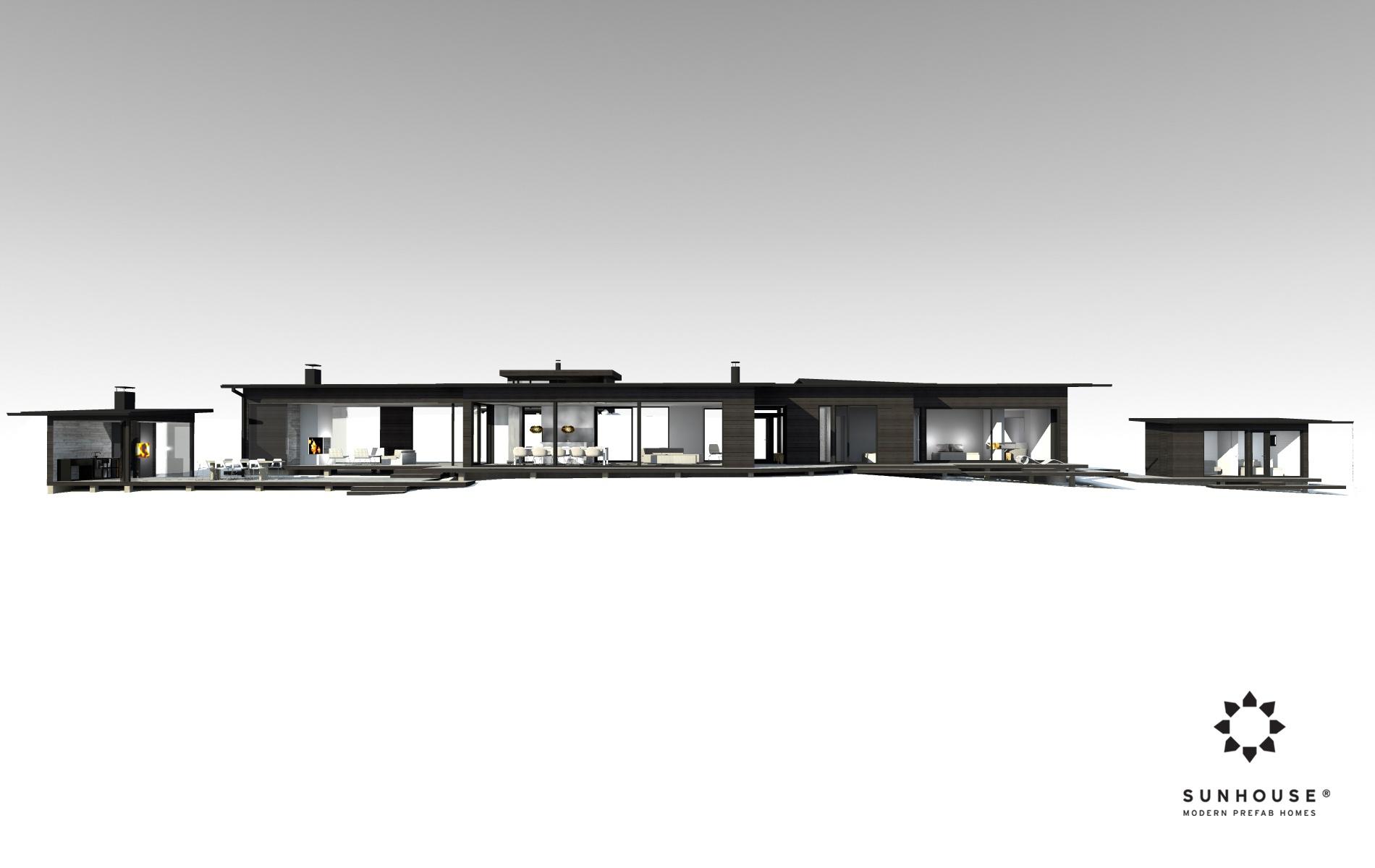 Sunhouse S1412 - Moderni vapaa-ajan asunto-16