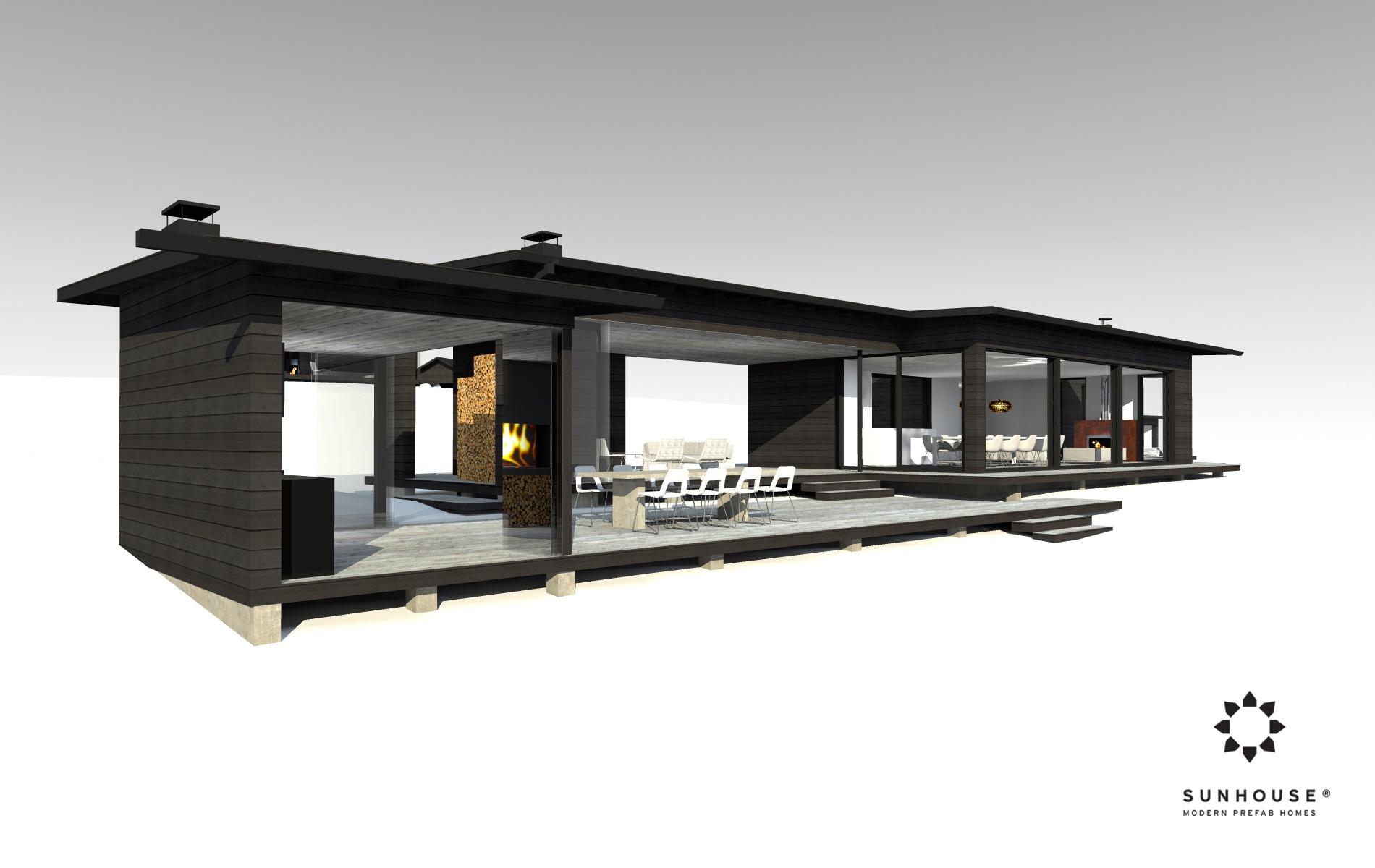 Sunhouse S1412 - Moderni vapaa-ajan asunto-2