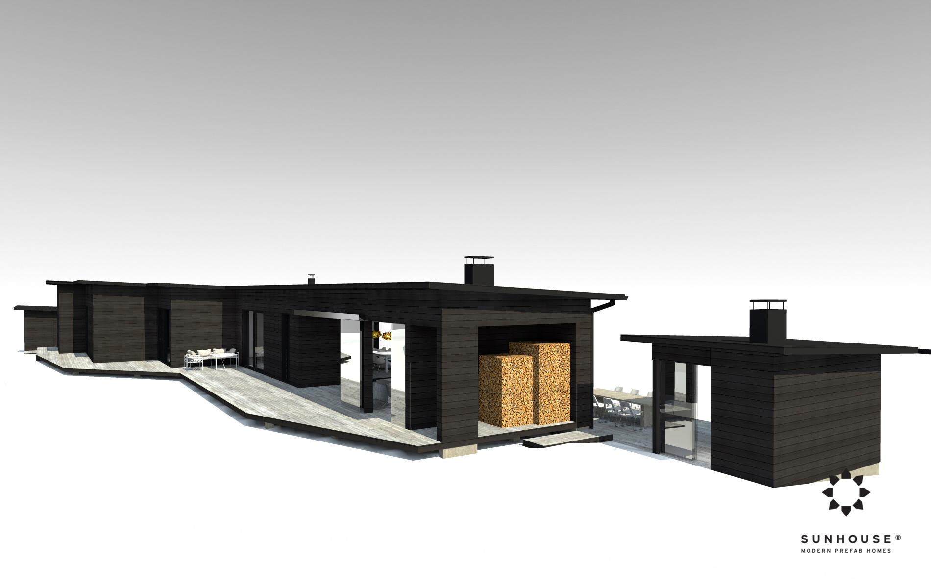 Sunhouse S1412 - Moderni vapaa-ajan asunto-3