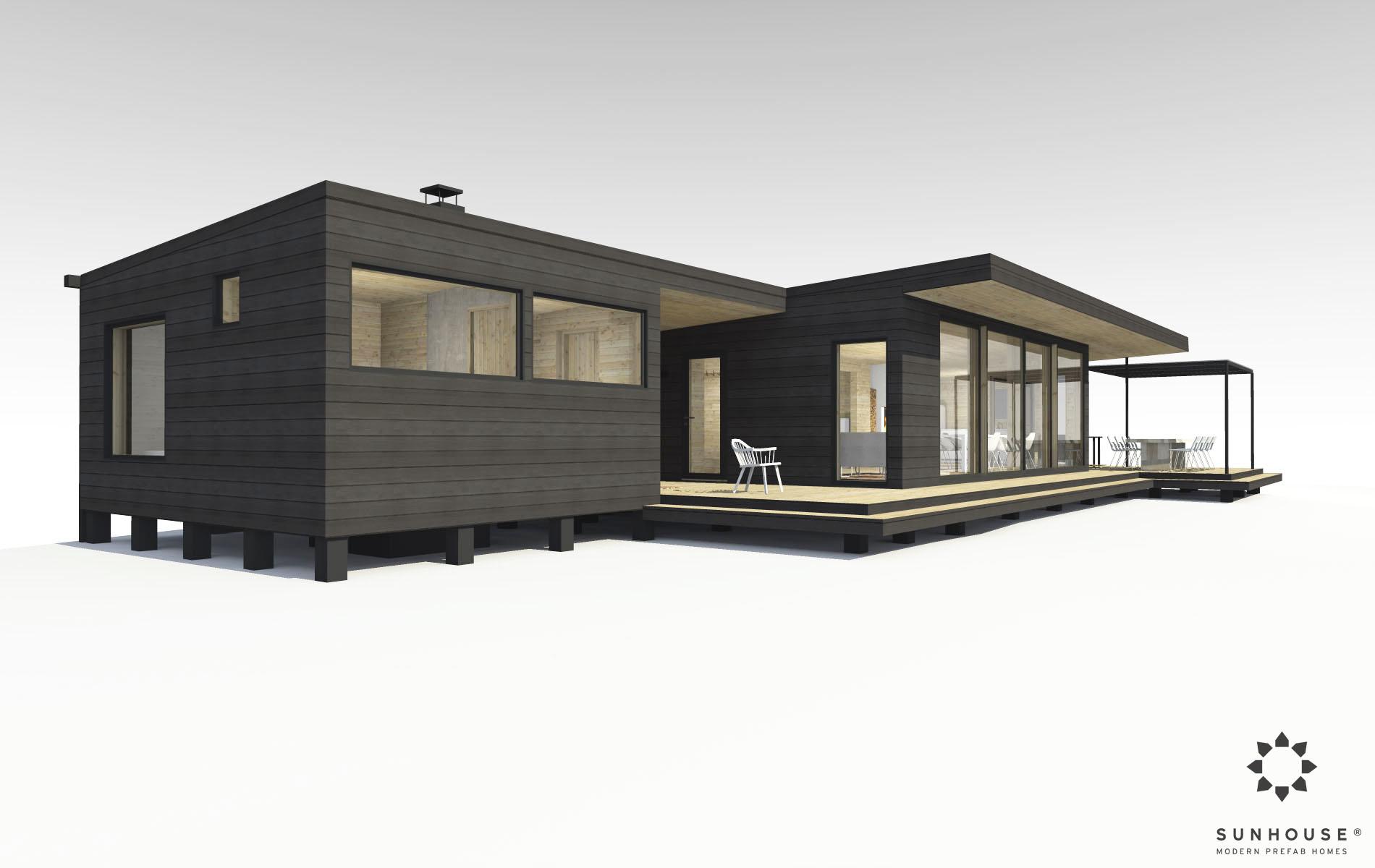 Sunhouse moderni huvila S1419_ulkoa (1)