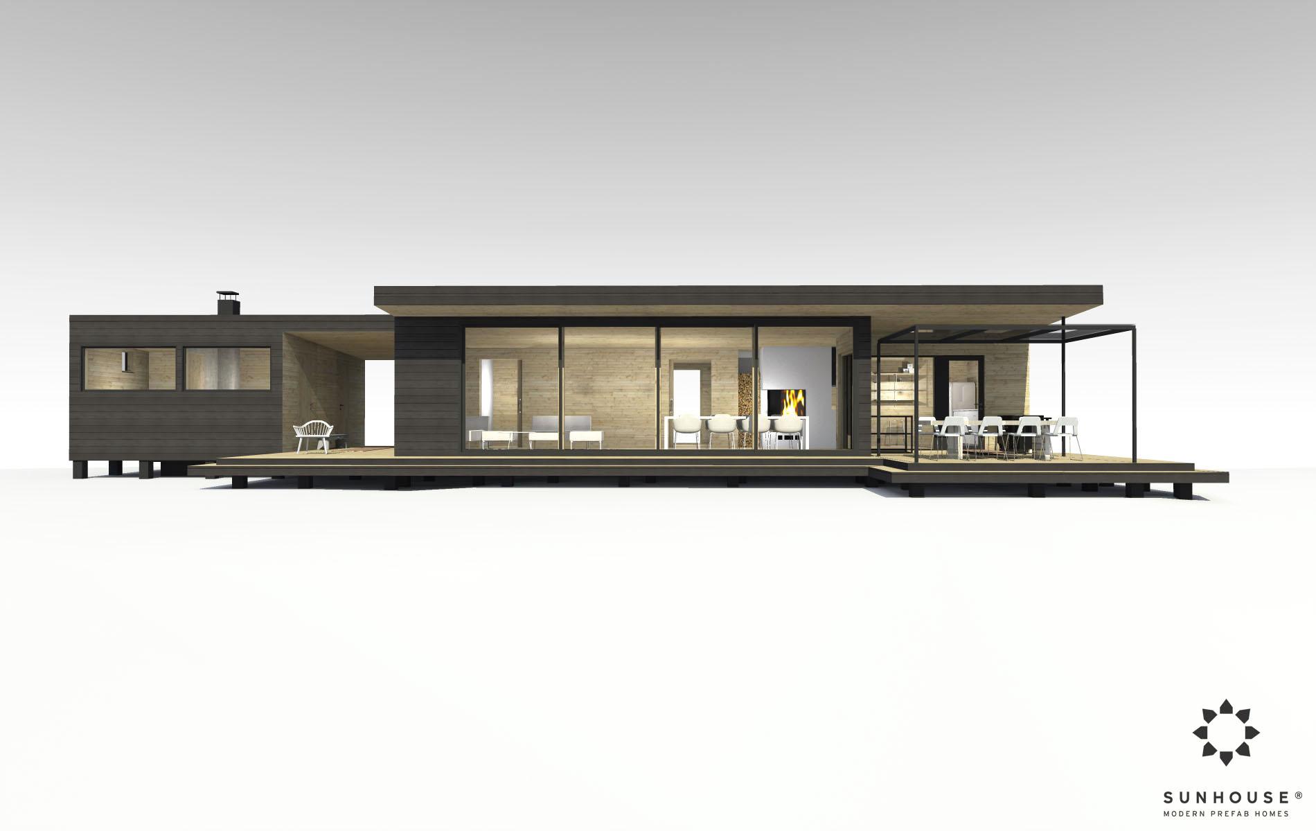 Sunhouse moderni huvila S1419_ulkoa (6)