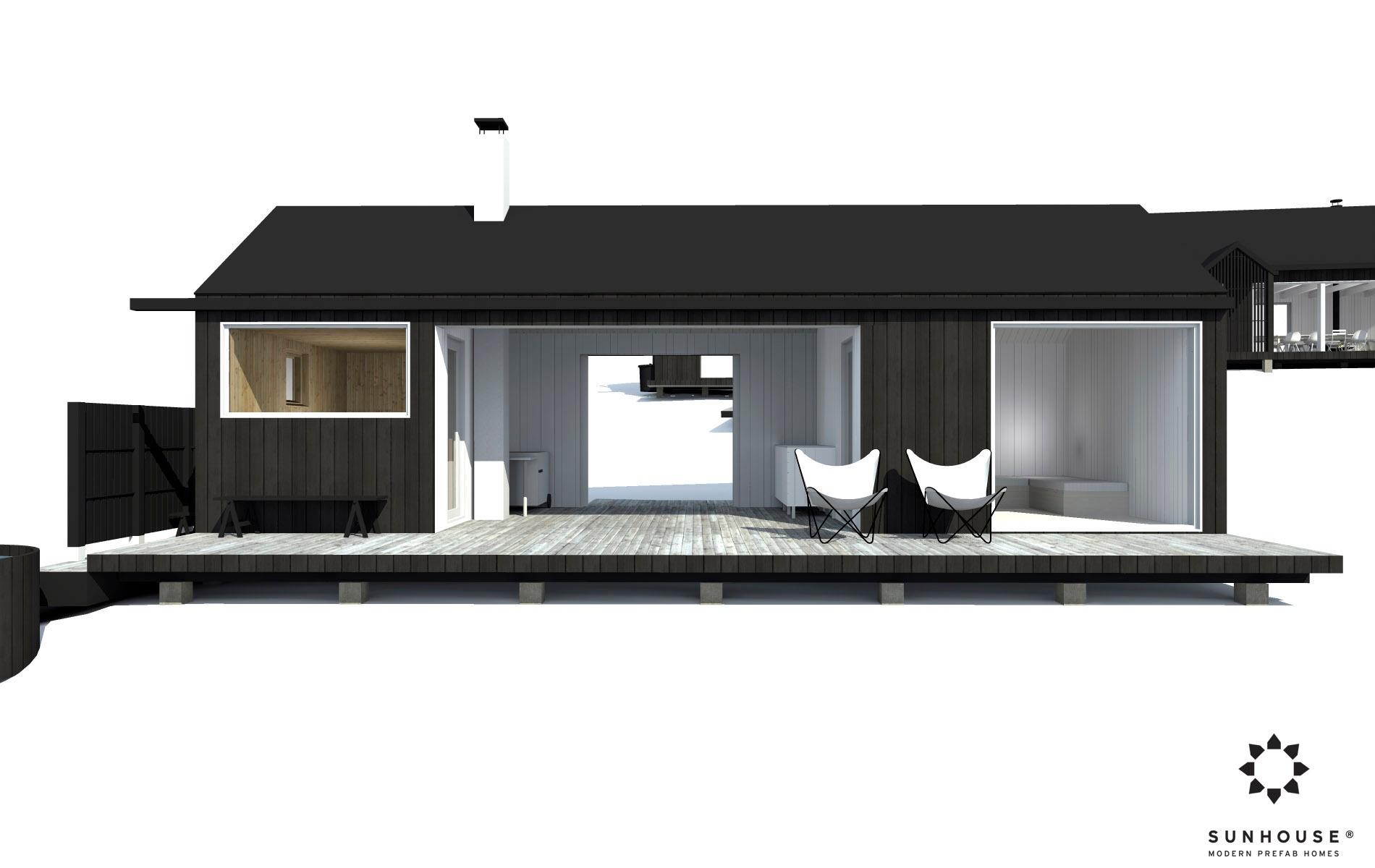 Sunhouse moderni sauna S1601 (2)