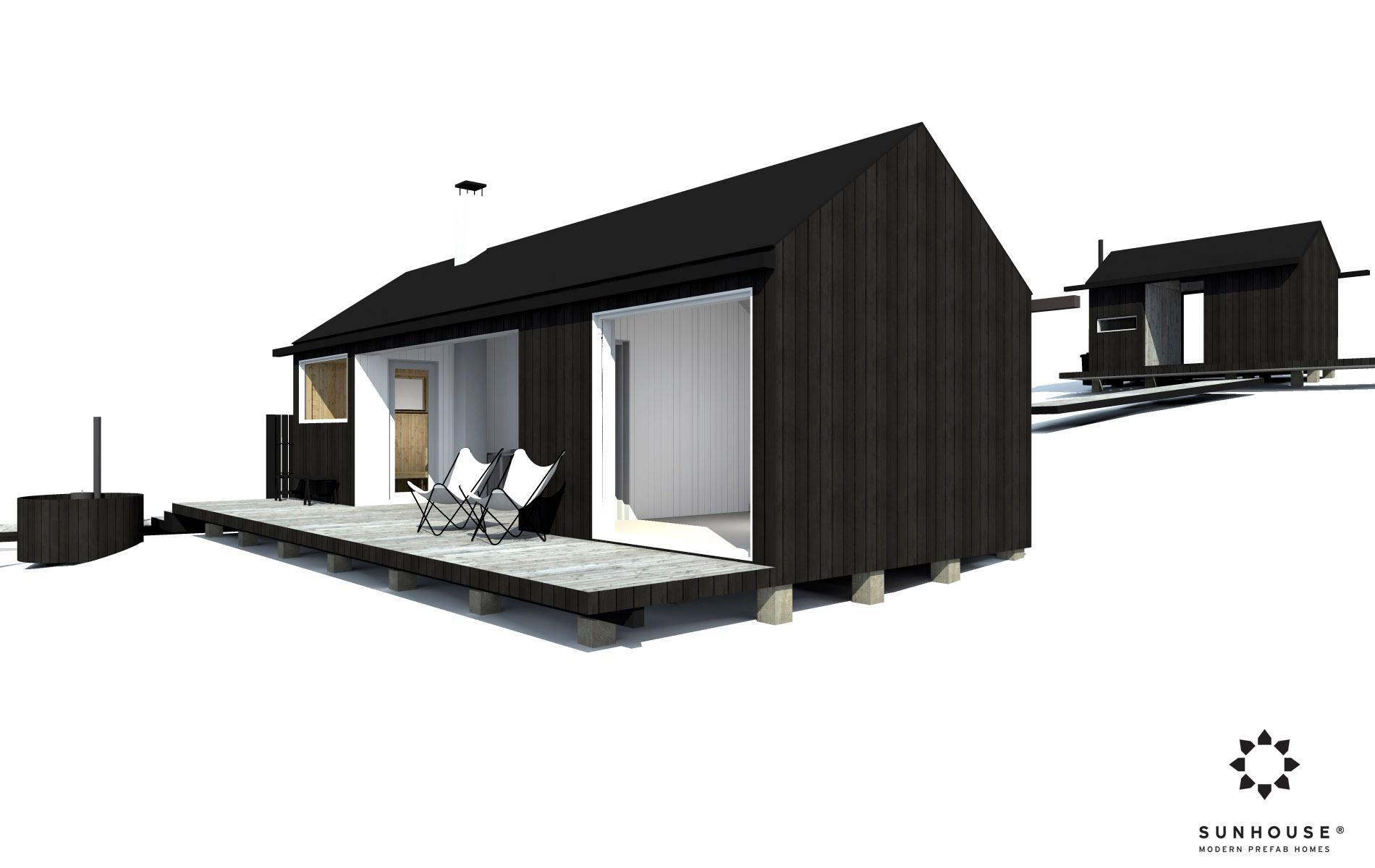 Sunhouse moderni sauna S1601 (3)