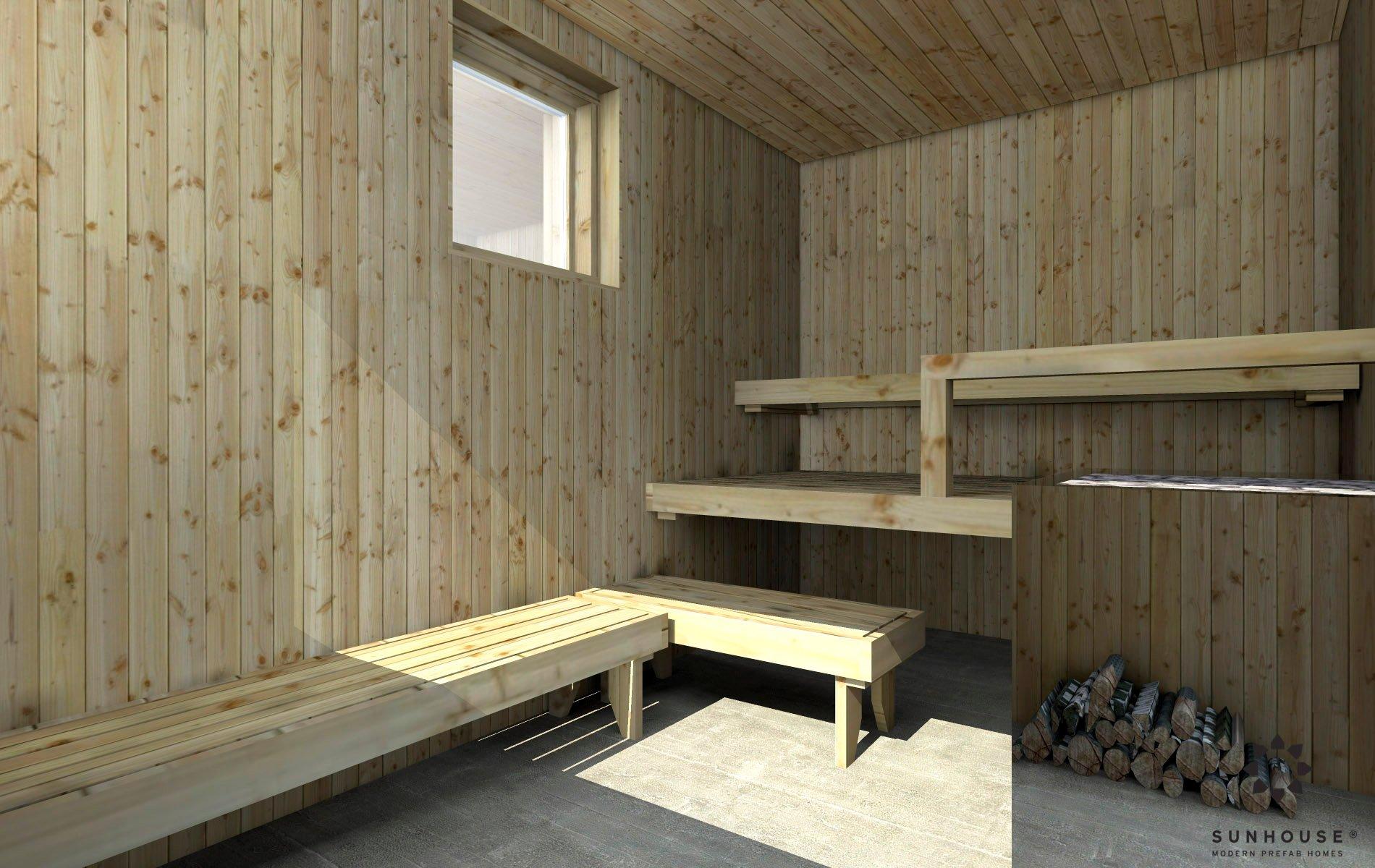 Sunhouse moderni sauna S1601 (4)