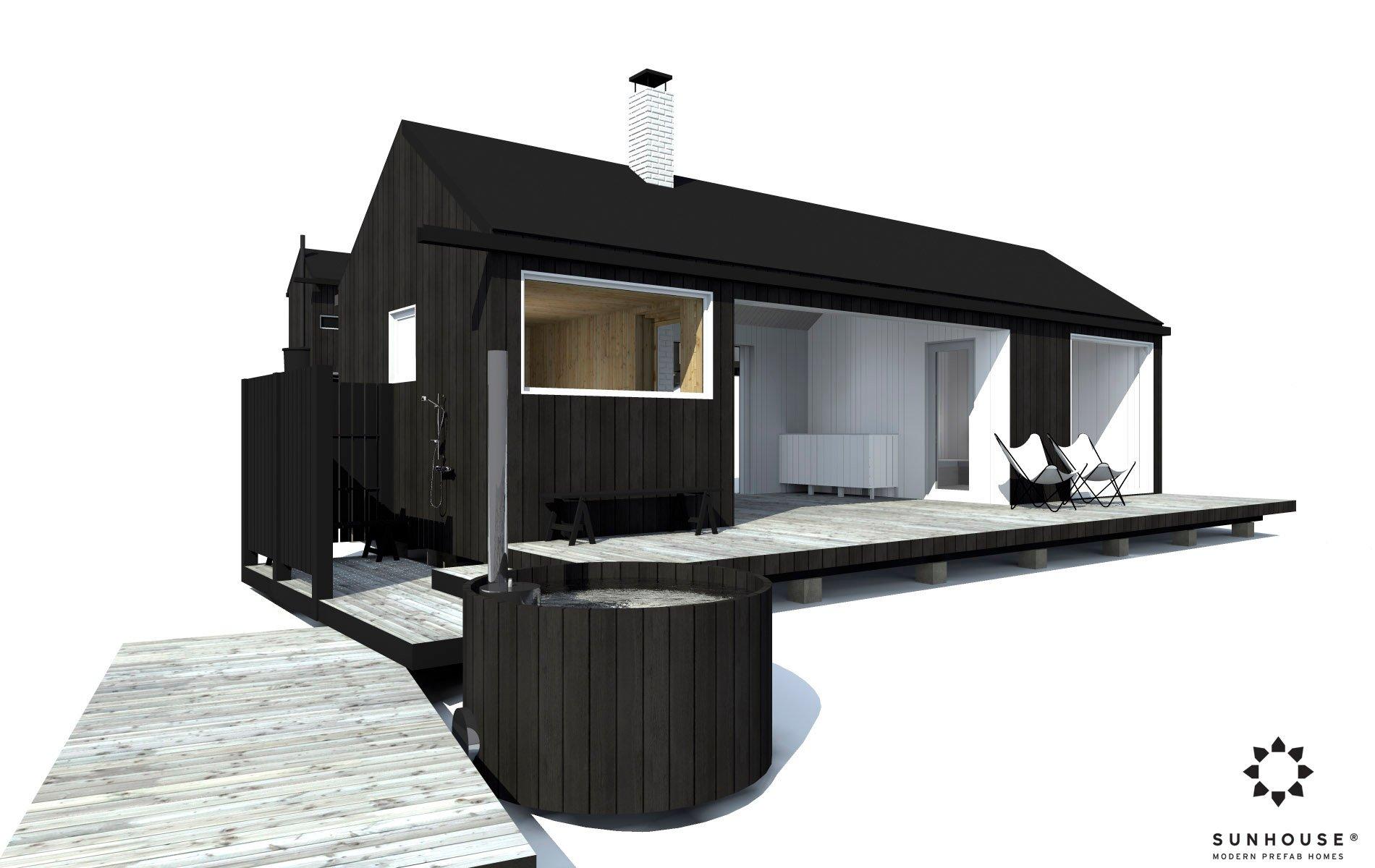 Sunhouse moderni sauna S1601 (9)