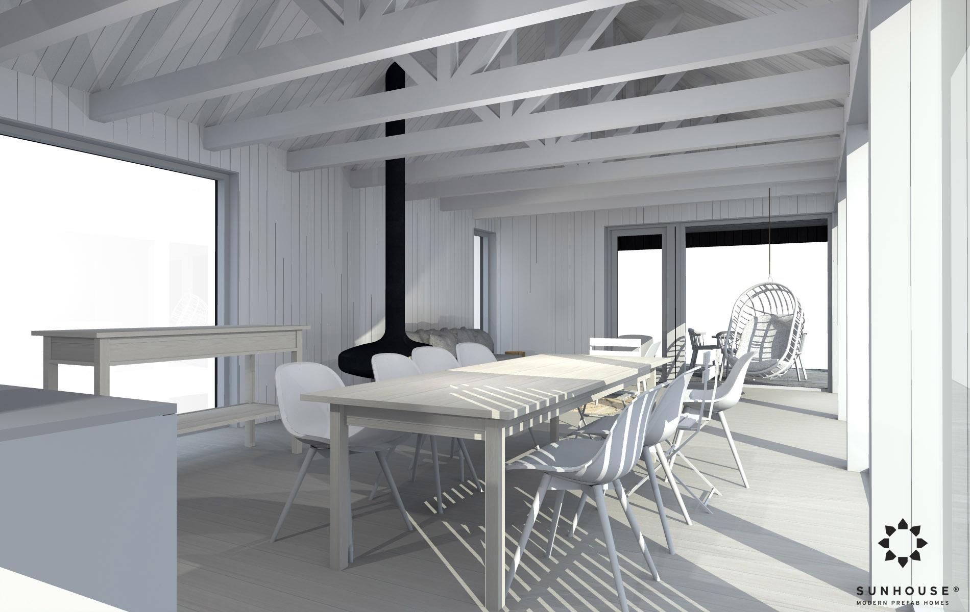 Sunhouse moderni mökki S1601_sisältä(3)
