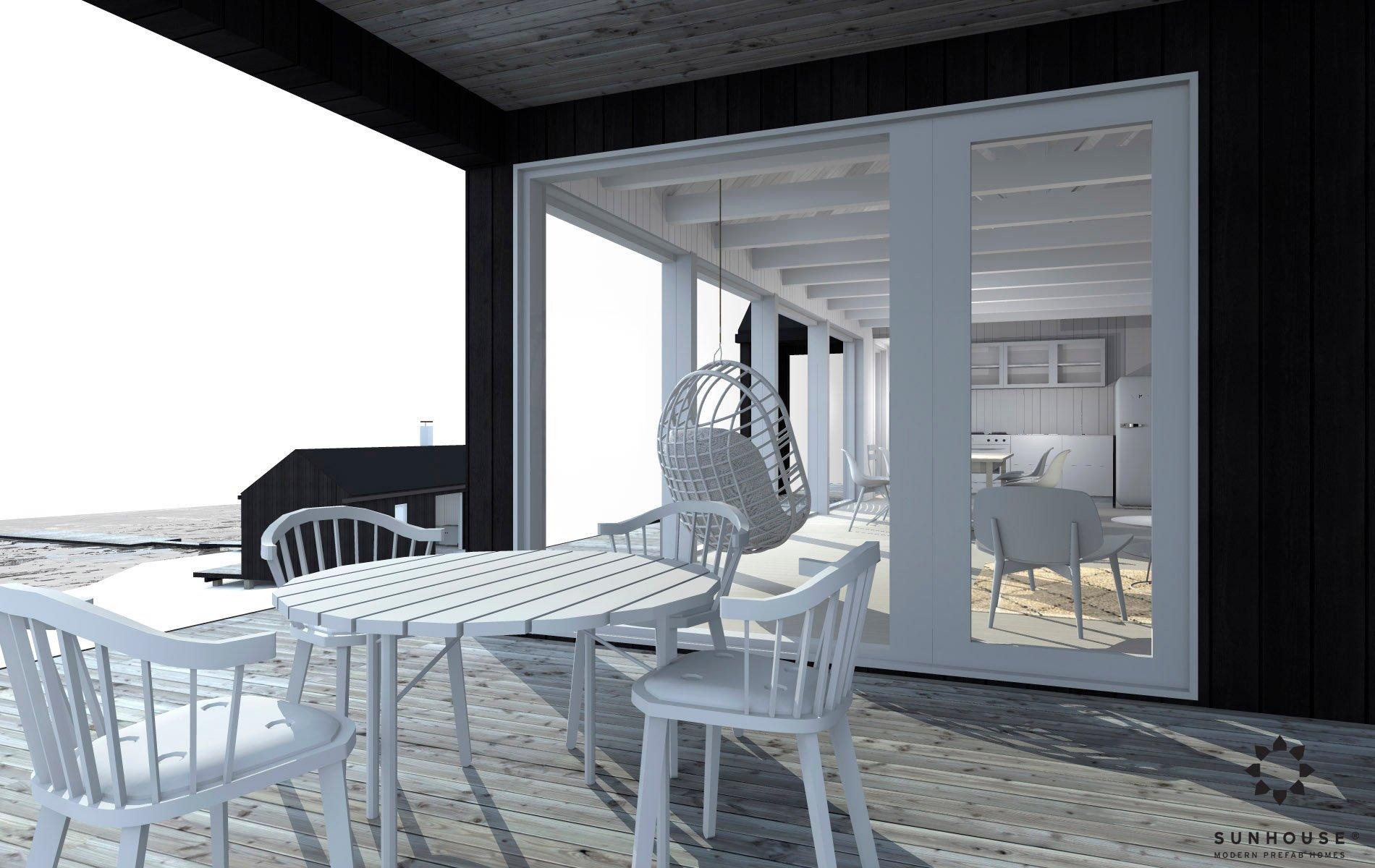Sunhouse moderni mökki S1601_sisältä(4)