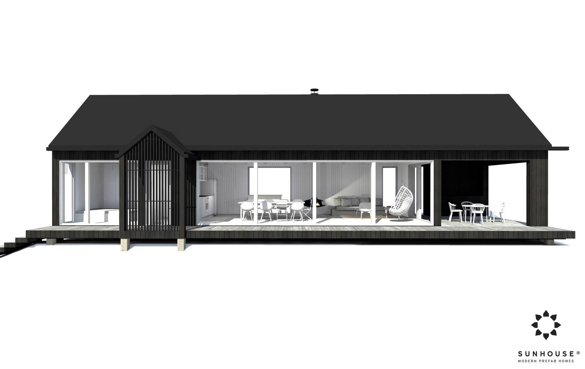 Sunhouse moderni mökki S1601_ulkoa (1)