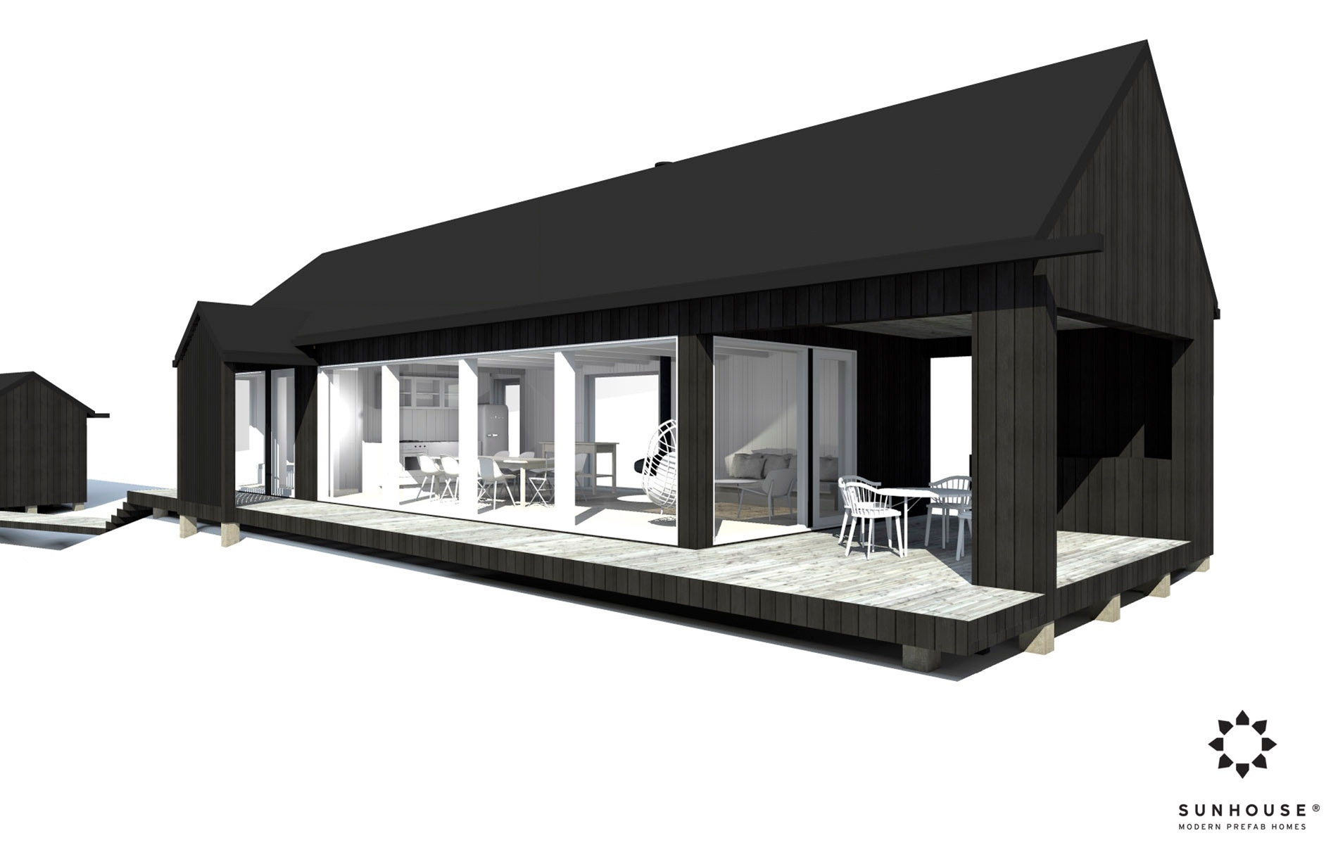 Sunhouse moderni mökki S1601_ulkoa(2)