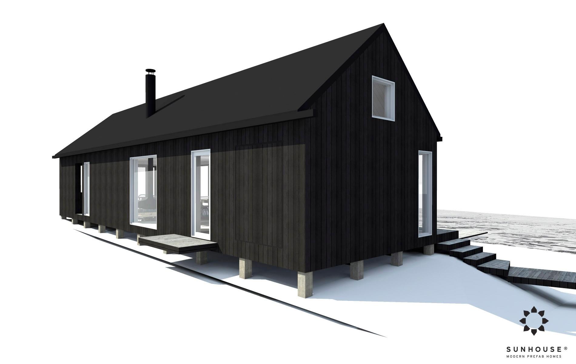 Sunhouse moderni mökki S1601_ulkoa(4)