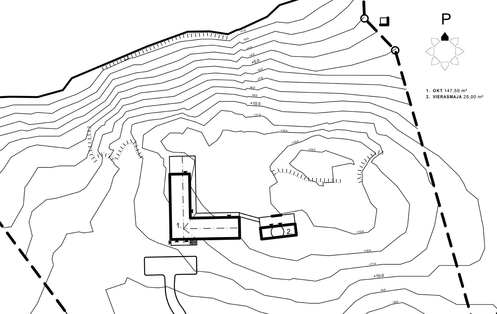 Sunhouse S1628 - Talon sijoittaminen tontille