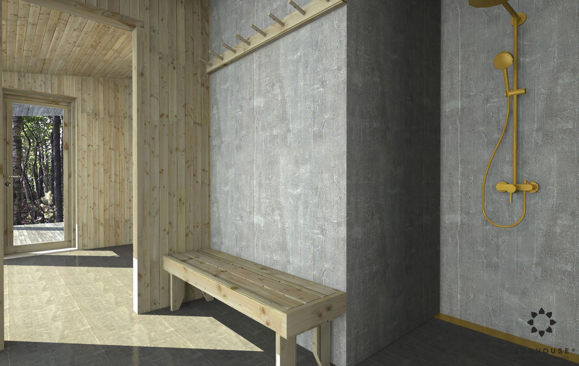 Sunhouse moderni sauna S1722_sisältä (3)