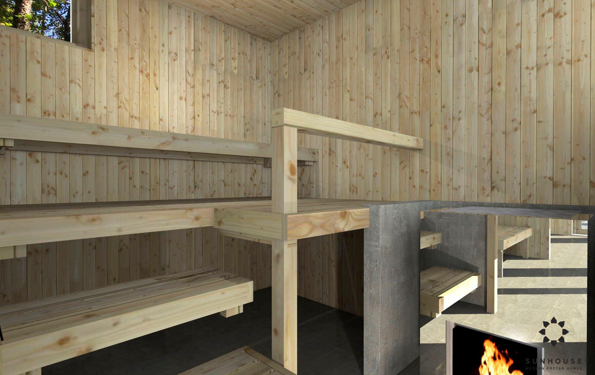 Sunhouse moderni sauna S1722_sisältä (4)