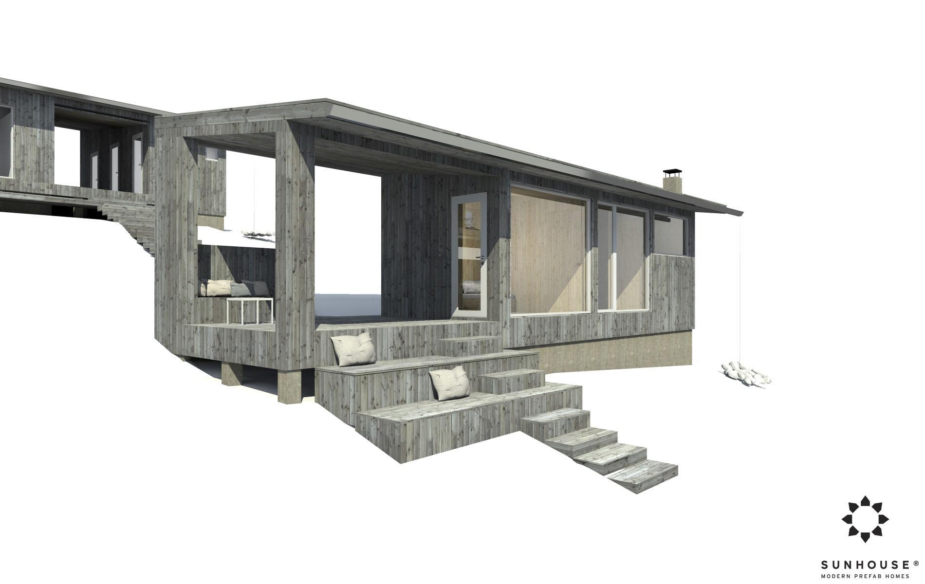 Sunhouse moderni sauna S1722_ulkoa (2)