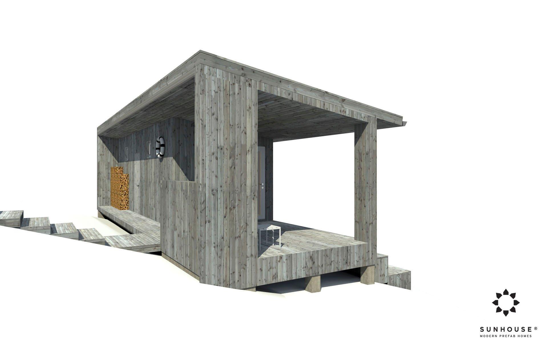 Sunhouse moderni sauna S1722_ulkoa (3)