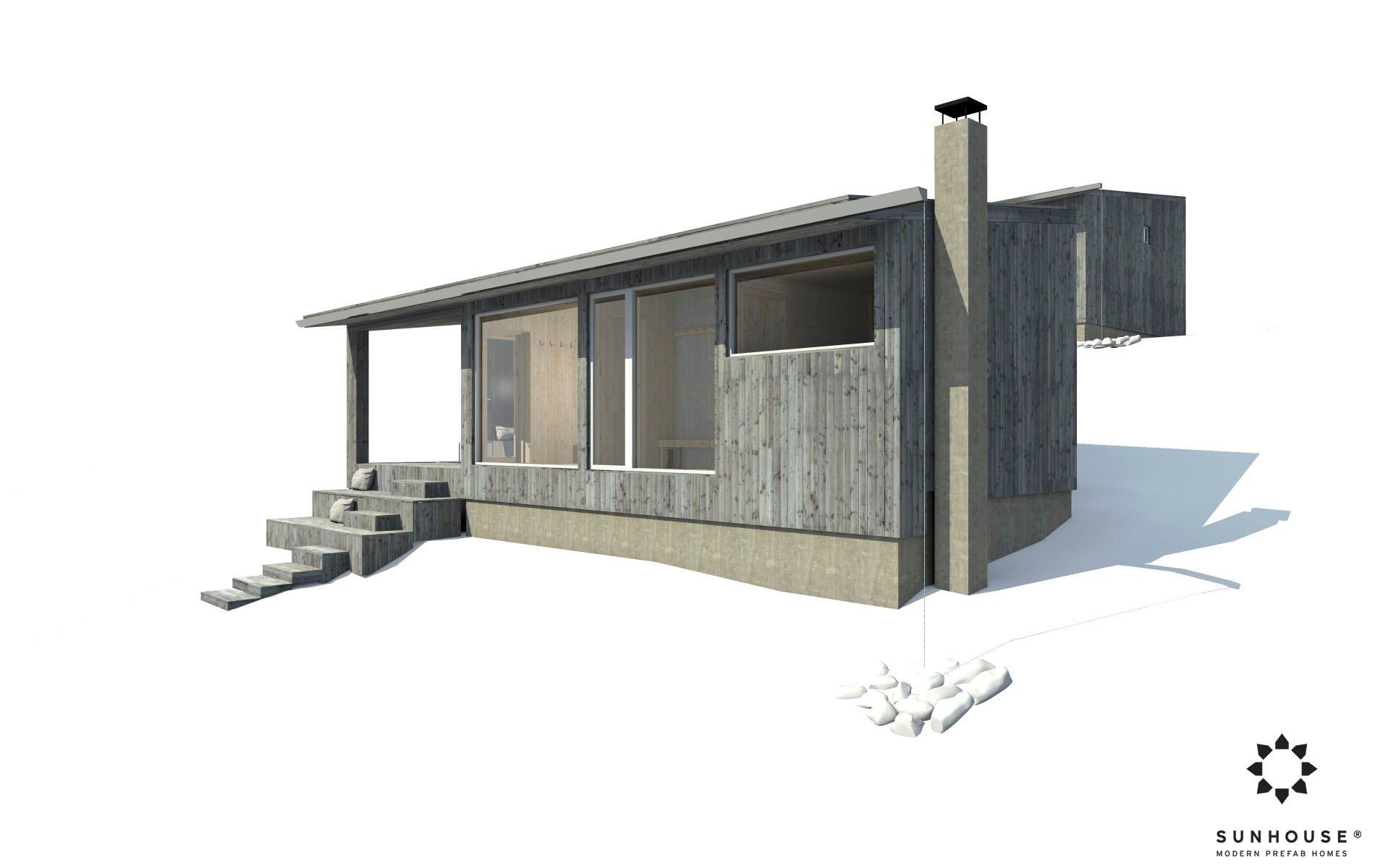 Sunhouse moderni sauna S1722_ulkoa (5)