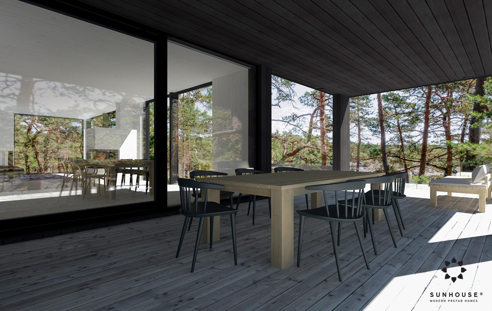 Sunhouse S200268 - Moderni puutalo