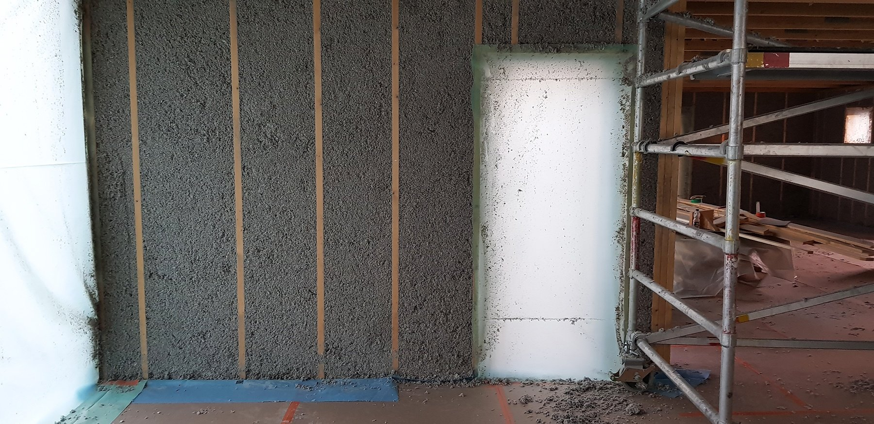 Omakotitalon hengittävä seinärakenne
