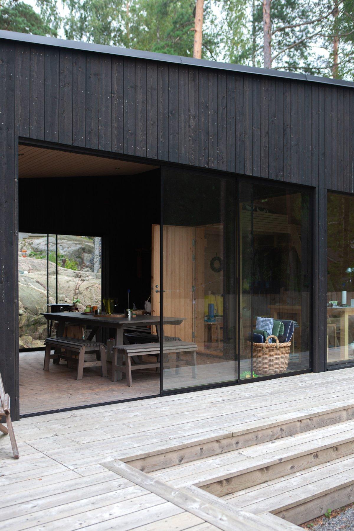 Moderni rantasauna Sipoon Kitössä