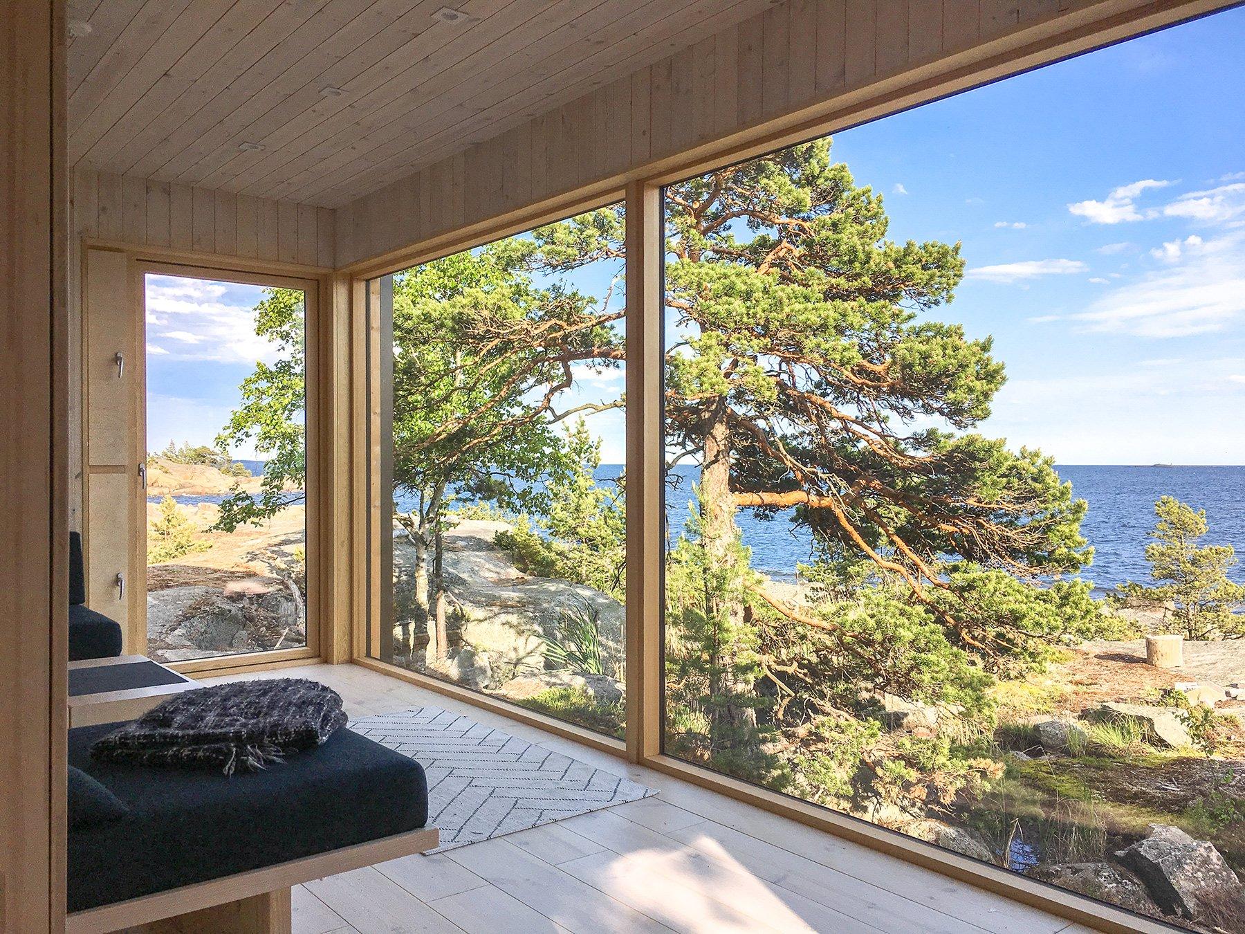 Sauna ja saunatupa Helsingin saaristossa