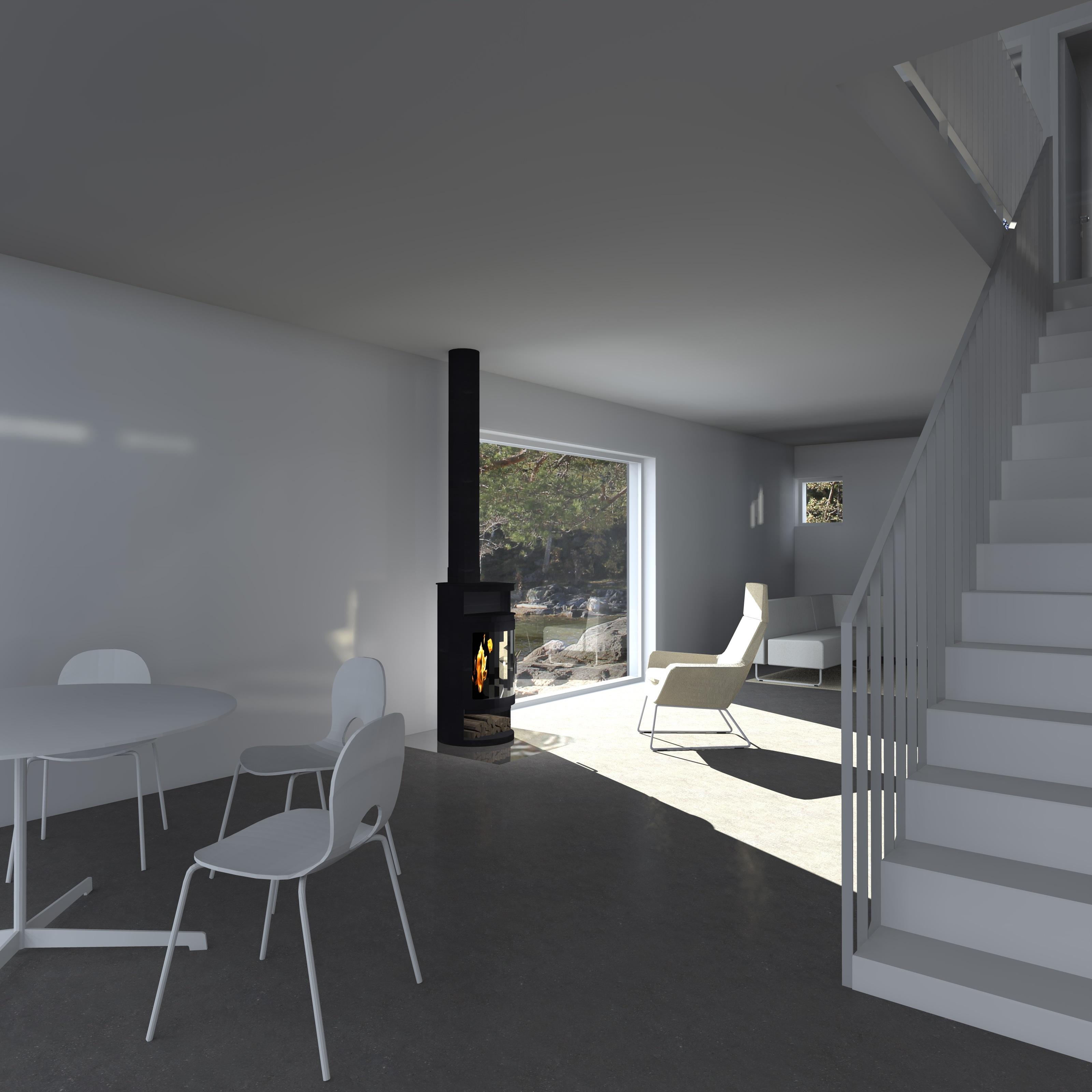 Moderni kuutiomainen talo Q1