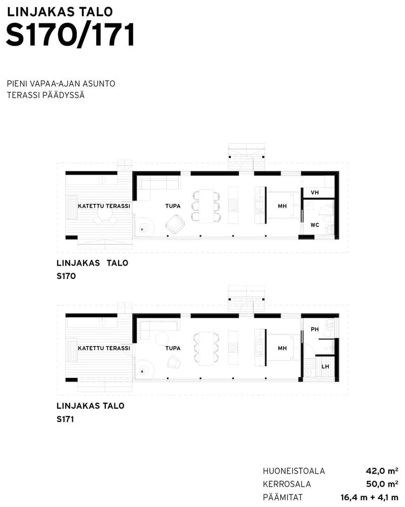 Sunhouse Linjakas talo S170-171