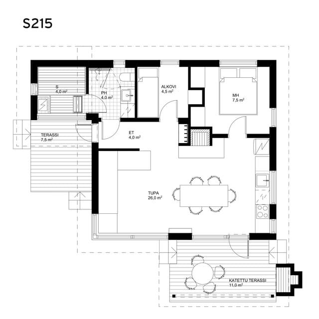 Sunhouse Linjakas talo S215