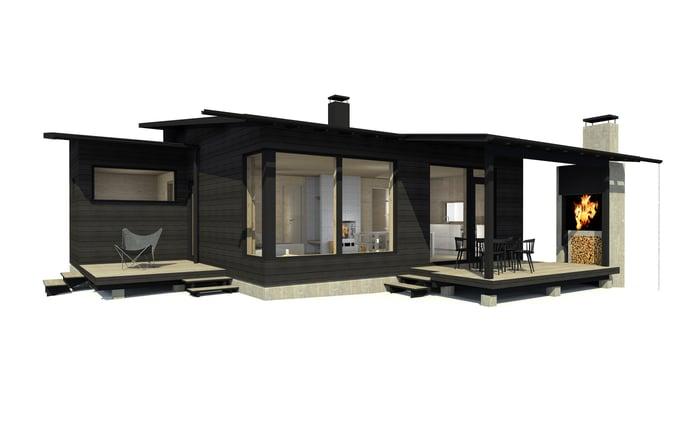 Sunhouse Linjakas talo S215 (7)