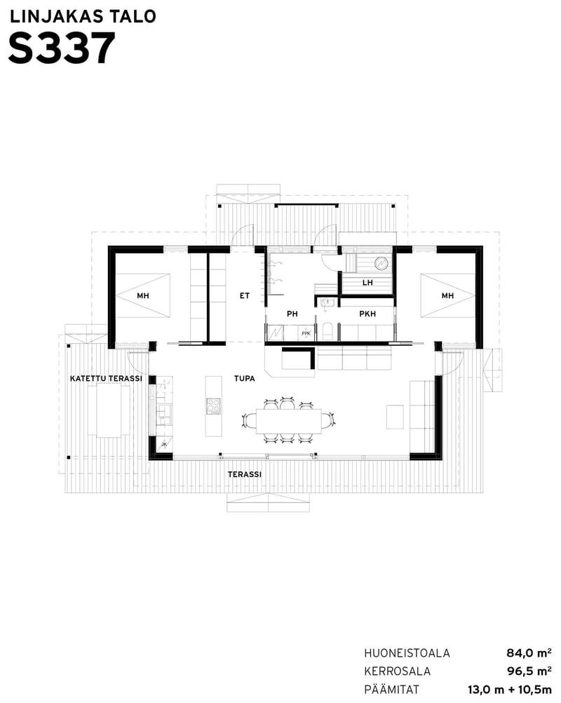 Sunhouse-Linjakas-talo-S337-pohjakuva