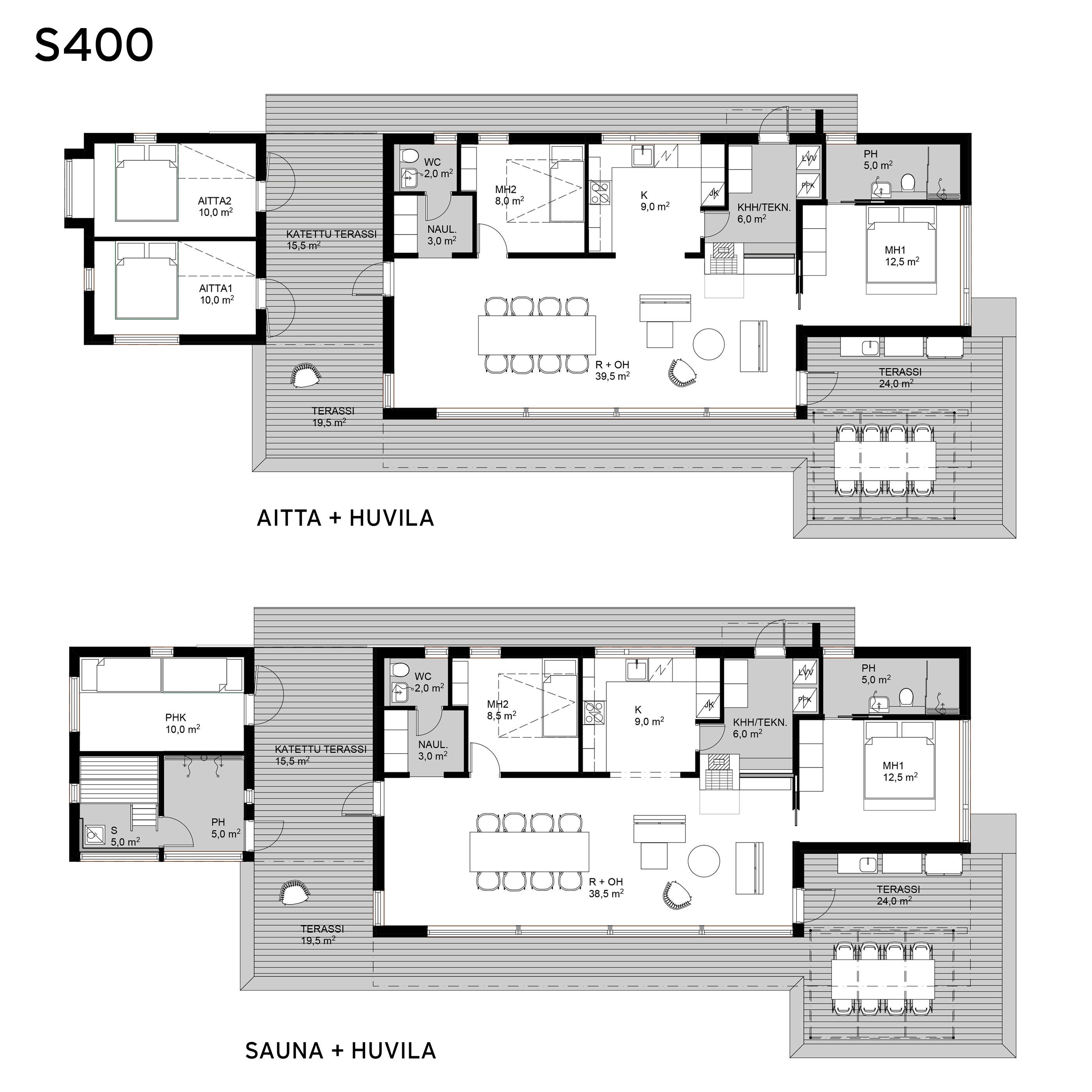 Sunhouse moderni mökki S400