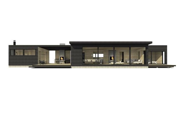 Sunhouse moderni mökki S400-100