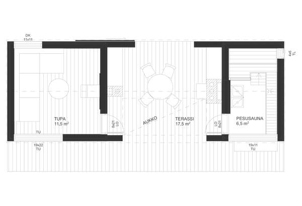 Sauna XS1-pohja