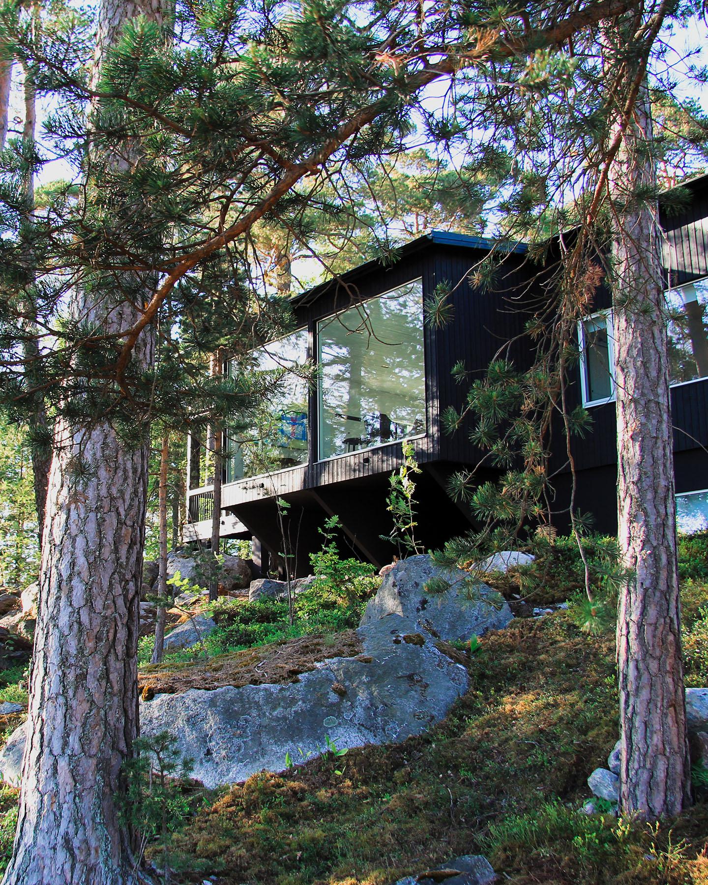 Moderni vapaa-ajan asunto Helsingin saaristossa (1)