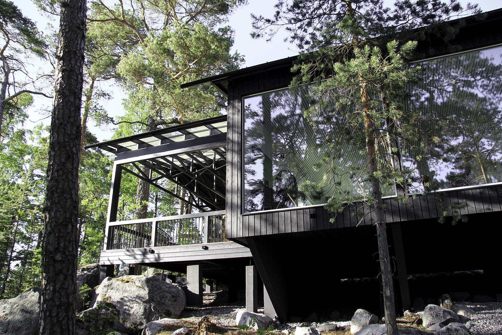 Moderni vapaa-ajan asunto Helsingin saaristossa (5)