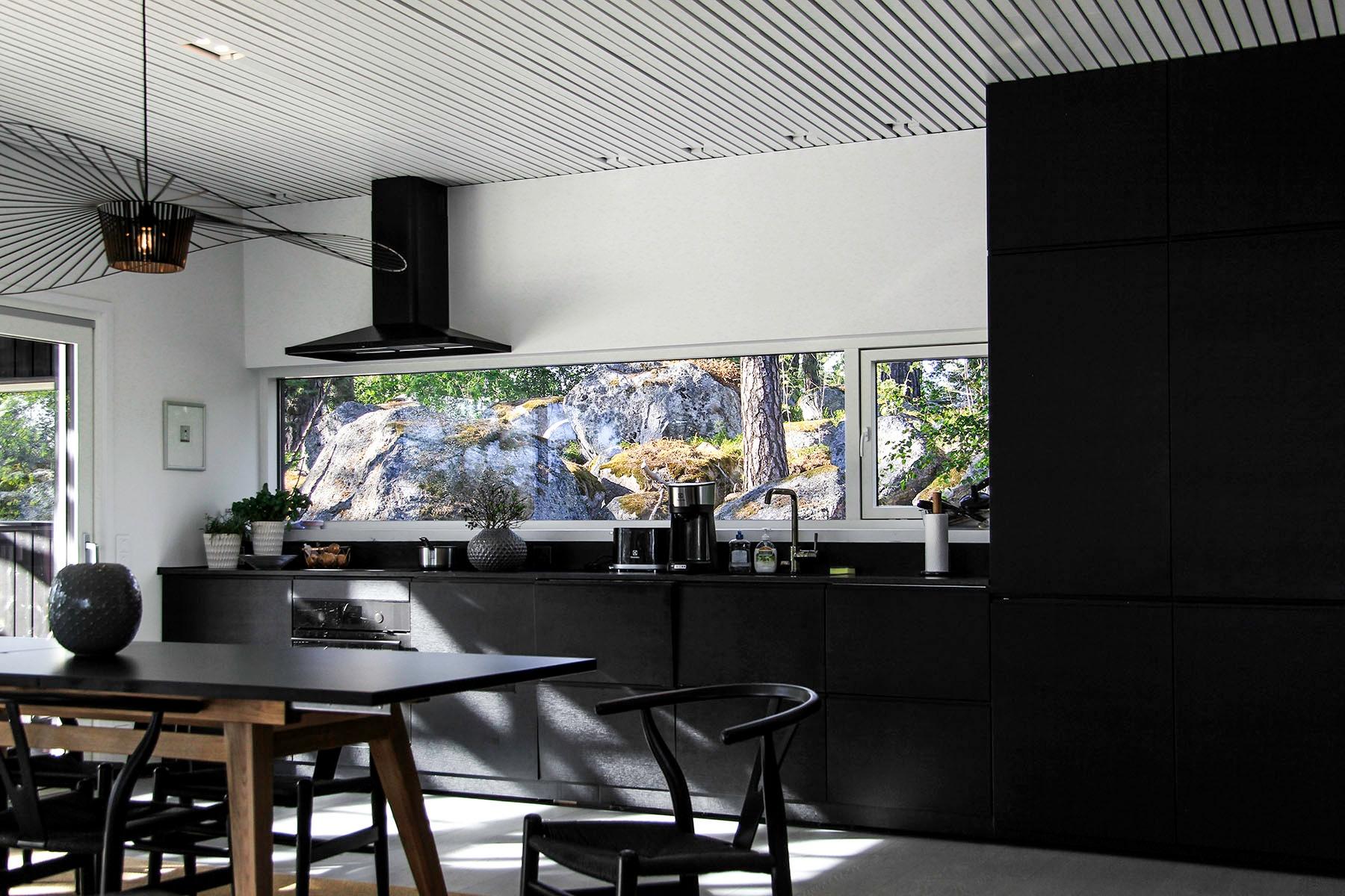 Moderni vapaa-ajan asunto Helsingin saaristossa keittio