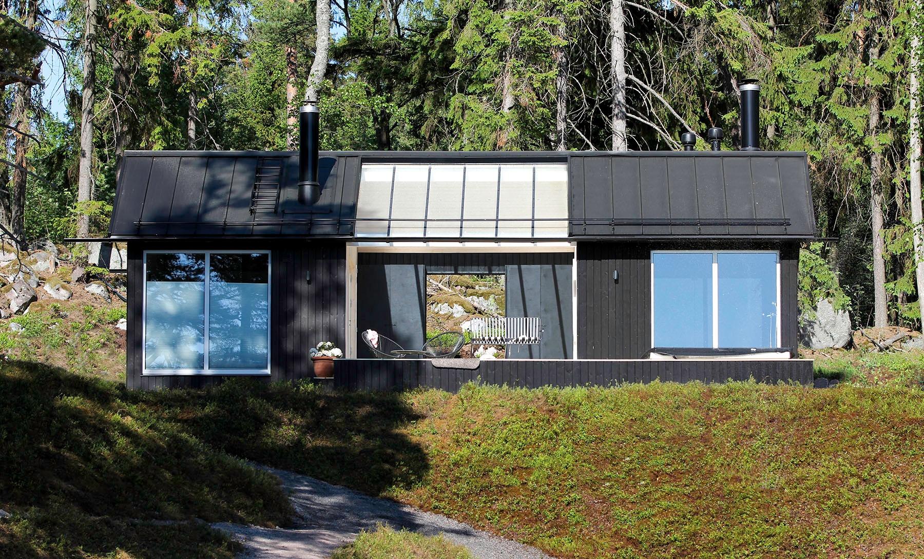 Moderni vapaa-ajan asunto Helsingin saaristossa sauna