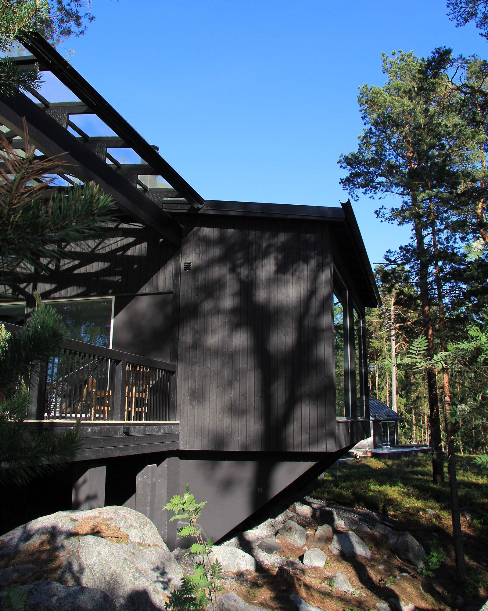 Moderni vapaa-ajan asunto Helsingin saaristossa uloke