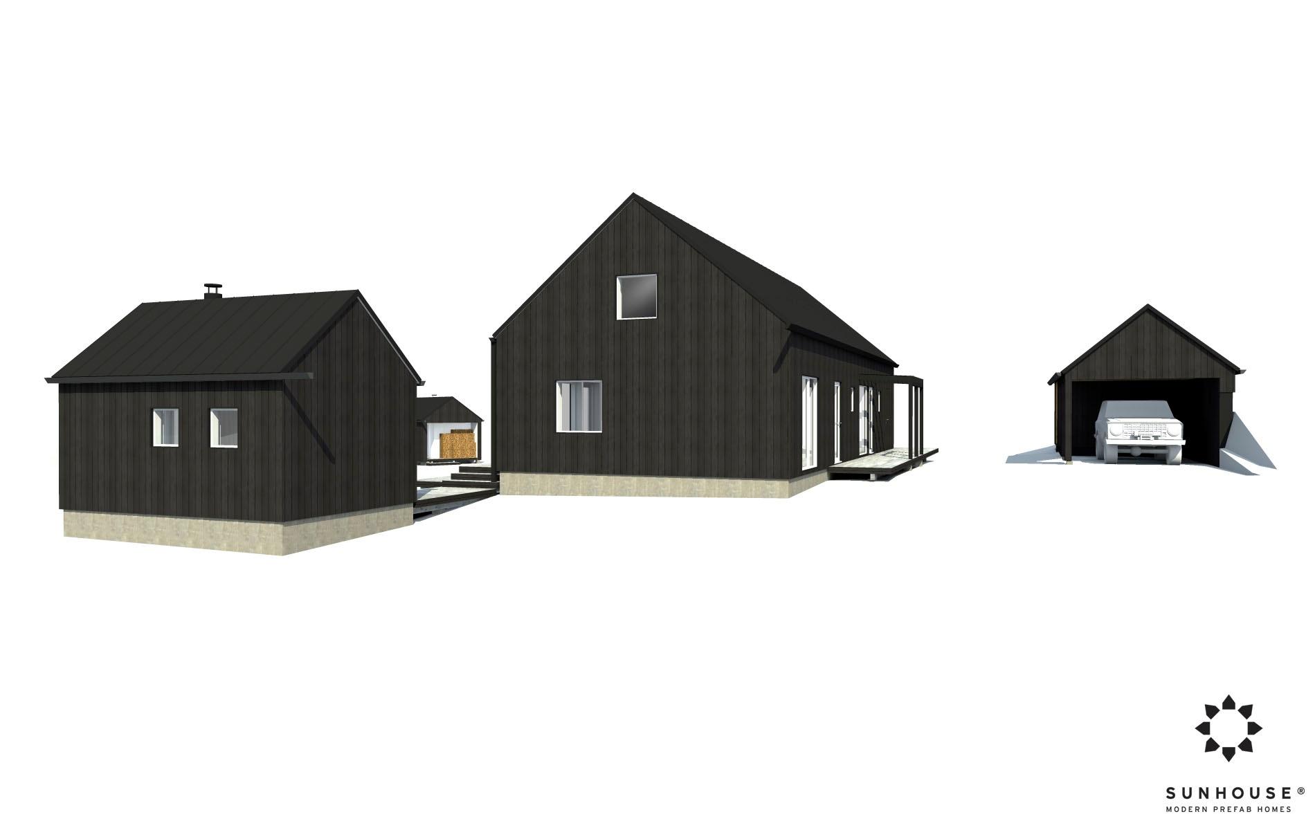 Sunhouse S1631 Moderni Omakotitalo