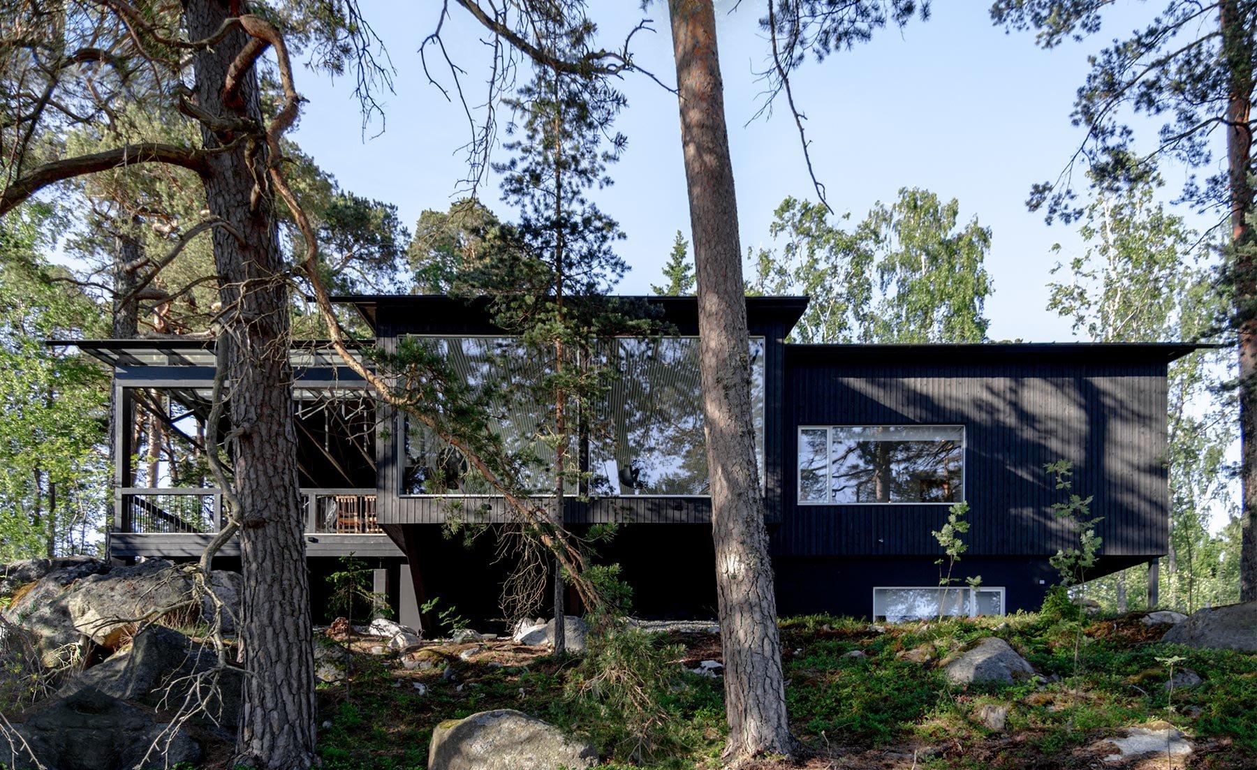 Moderni vapaa-ajan asunto ja sauna Helsingin saaristossa