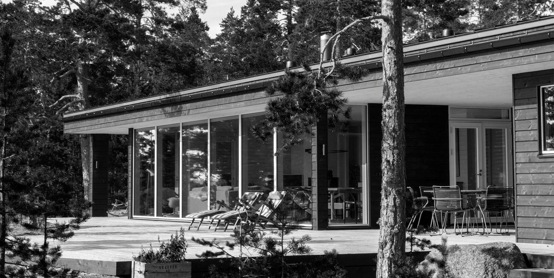 Arkkitehdin suunnittelema vapaa-ajan asunto Porvoossa