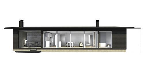Sunhouse Linjakas talo S180/251 - Moderni vapaa-ajan asunto