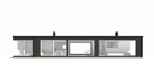 Moderni Huvila Linjakas talo S280