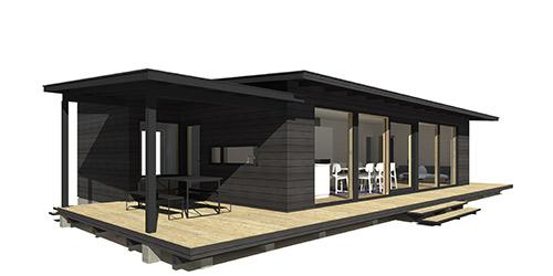 Sunhouse Linjakas talo S337 - Moderni vapaa-ajan asunto