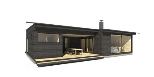 Moderni mökki Linjakas talo S362